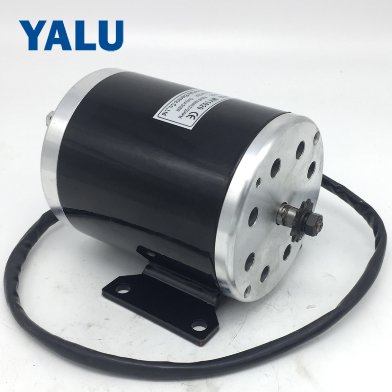 Small electric tricycle motor motor MY1020 800W 36V or 48V Permanent Magnet DC Motor High Speed Brush Electric Bicycle E-Scooter 60v1800w 4500rpm permanent magnet brushless dc motor differential speed electric vehicles machine tools diy accessories motor