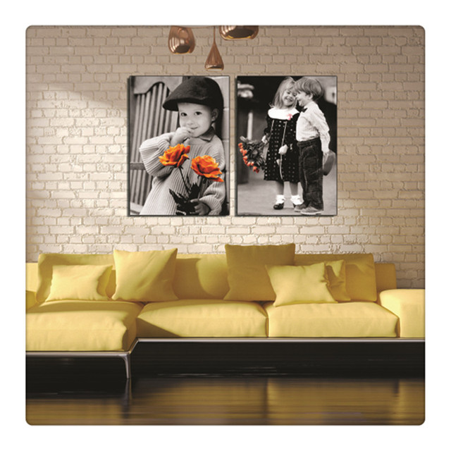 black and white little boy hang flower fall in love wall pictures ...