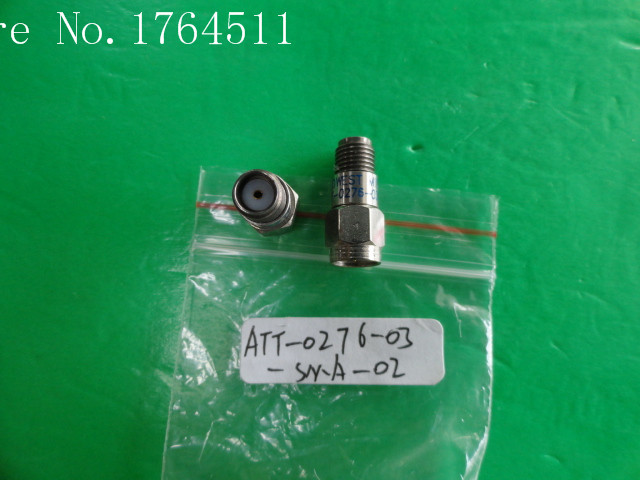 [BELLA] MIDWEST ATT-0276-03-SMA-02 12.4GHz 3dB 2W SMA Coaxial Fixed Attenuator  --3PCS/LOT