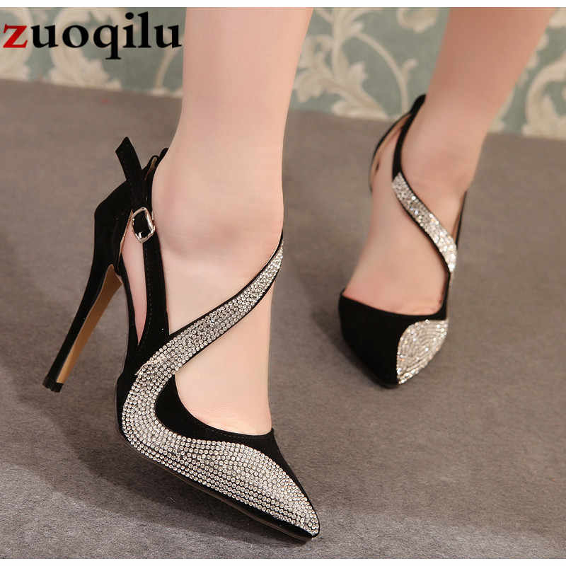 2019 sexy high heels shoes women brand design high heels night club rhinestone women pumps high heels party wedding shoes heels