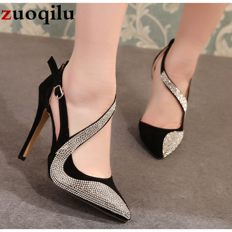 2019 sexy high heels shoes women brand design high heels night club rhinestone women pumps high heels party wedding shoes heels high heels