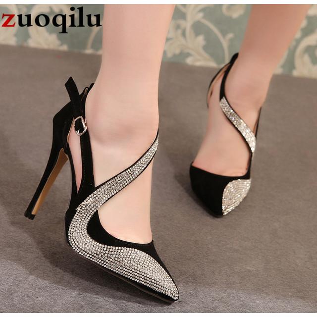 2019 sexy high heels shoes women brand design high heels night club rhinestone women pumps high heels party wedding shoes heels
