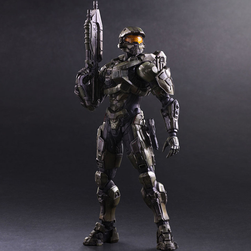 HEYZO 26cm Play Arts KAI <font><b>HALO</b></font> <font><b>5</b></font> Guardians No.1 Master Chief movie Anime PVC Action Figures <font><b>toy</b></font> Anime collection model <font><b>Toy</b></font> gifts image