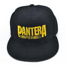 Pantera Heavy metal band Letter Baseball caps Cowboys From Hell rock Hip-hop cap fashion Men and women snapback hat judas priest heavy metal band mesh cap summer fashion men women rock baseball caps rock music fans trucker hat letter casual hat