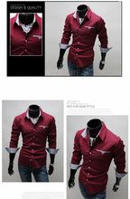MIXCUBIC College Style Simple Solid Color Shirts