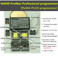 ProMan NAND nand programador Profesional/NI TSOP48 FLASH NAND programador TL866 PLUS programador/alta velocidad de programación