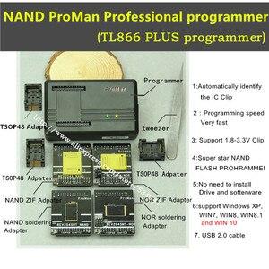 Image 2 - XGecu ProMan Professional  nand flash programmer/NAND NOR TSOP48 FLASH programmer TL866 PLUS programmer /high programming speed