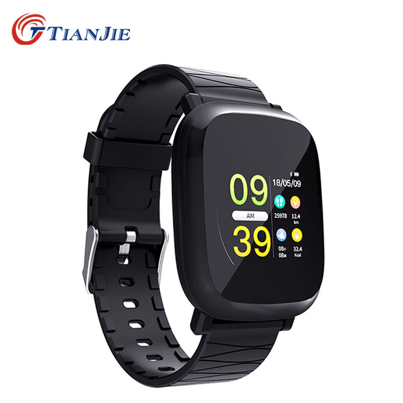 TIANJIE M30 Bluetooth Smart Watch With Smartwatch Pedometer Black Health Sport Clock Men Women SmartWatch For