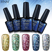 HNM 10ML Starry Bling UV Gel Nail Polish Lucky GelLak Glitter Gel Polish Gel ink Hybrid Varnish Semi Permanent Lacquer Gelpolish