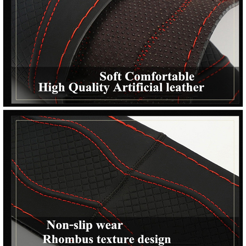 Super Anti wear DIY Car Steering Wheel Covers 38cm Breathable Three dimensional Anti slip Steering Wheel Cover Sleeve Protector in Steering Covers from Automobiles Motorcycles