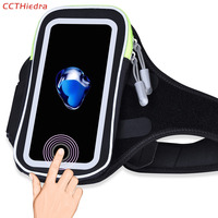 CCTHiedra Fingerprint Unlock Waterproof Sports Running Arm Band Phone Case Bag For IPhone 8 7 6
