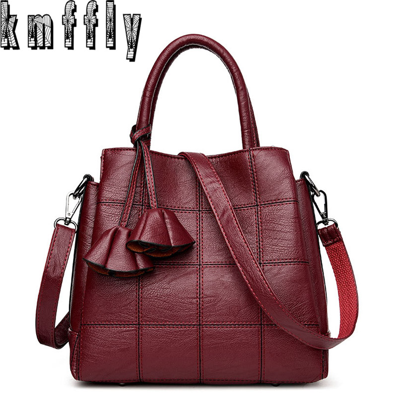 KMFFLY Luxury Handbags Women Bags Designer Genuine Leather Fashion Shoulder Bag Sac a Main Marque Bolsas Ladies Casual Handbags luxury handbags women bags designer brands women shoulder bag fashion vintage leather handbag sac a main femme de marque a0296
