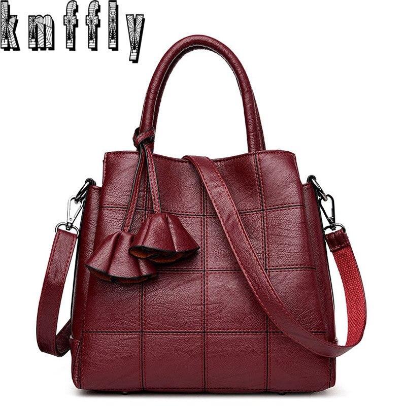 KMFFLY sacs à Main de luxe femmes sacs Designer en cuir véritable mode Sac à bandoulière Sac a Main Marque Bolsas dames sacs à Main décontractés