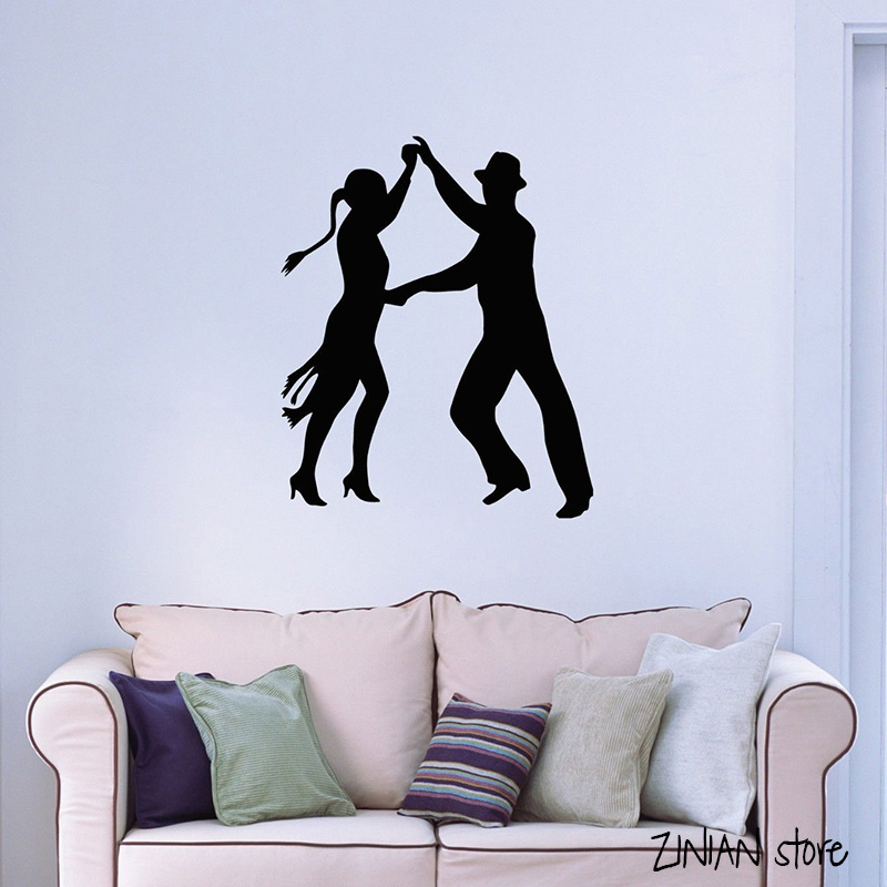 Latin Dance Wall Decals Tango Passion Wall Sticker For Bedroom Dance Room Bedroom Home Decoration Removable Art Mural H080