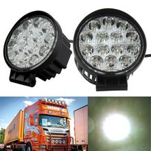 48W 4.3inch Spot Round Offroad Work LED Light Bar Driving DRL SUV 4WD Boat Truck working light