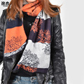 YI LIAN Brand New 3 Color Fashion Cotton Scarf Winter Oversize Women Scarves Hot Tree Pattern Scarves LA001