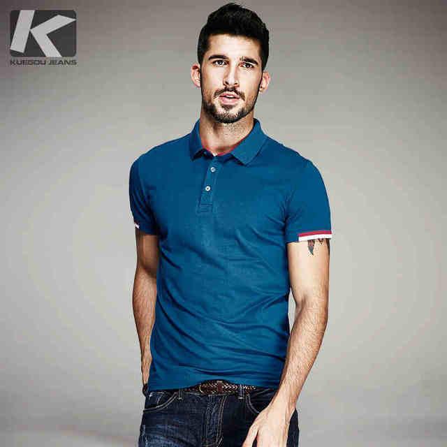 2016 summer new casual men lapel Paul Slim POLO shirt solid color elegant French men's POLO shirt brand clothing WZ169