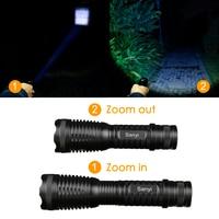 LED Flashlight XM-T6 3800Lumen 5 Mode Zoomable led Torch IP65 Waterproof Lantern linterna 18650 led Camping SOS flashlights