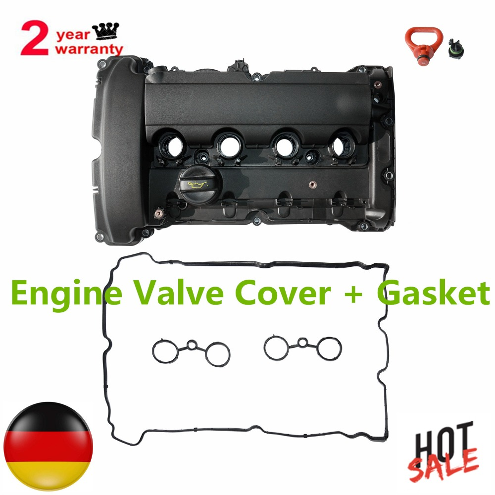Engine Valve Cover +Gasket for BMW Mini Cooper Turbo JCW R55 R56 R57 R58 R59 R60 2007 2008 2009 2010 2011 2012 11127572854 1.6L