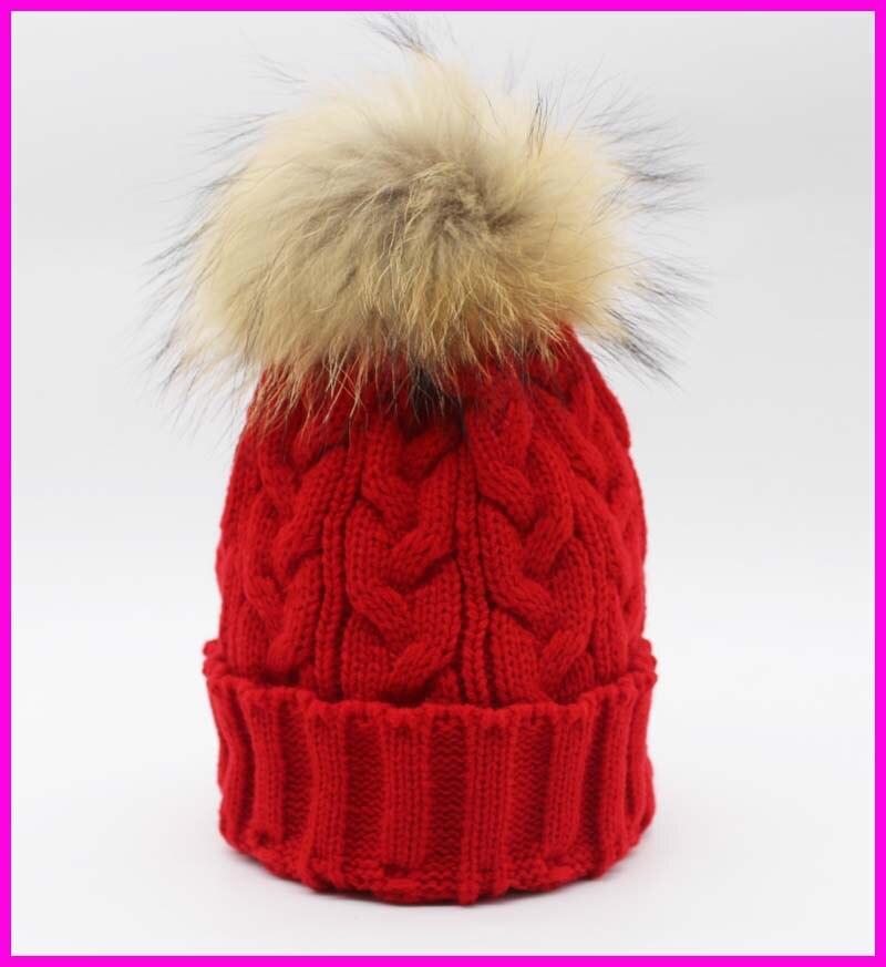 Winter Womens Beanies Real Raccoon Fur s