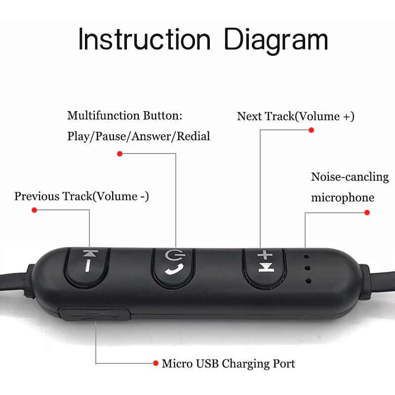 Sport słuchawki Bluetooth stereo muzyka bezprzewodowe słuchawki słuchawka do telefonu magnetyczny zestaw słuchawkowy słuchawki z mikrofonem