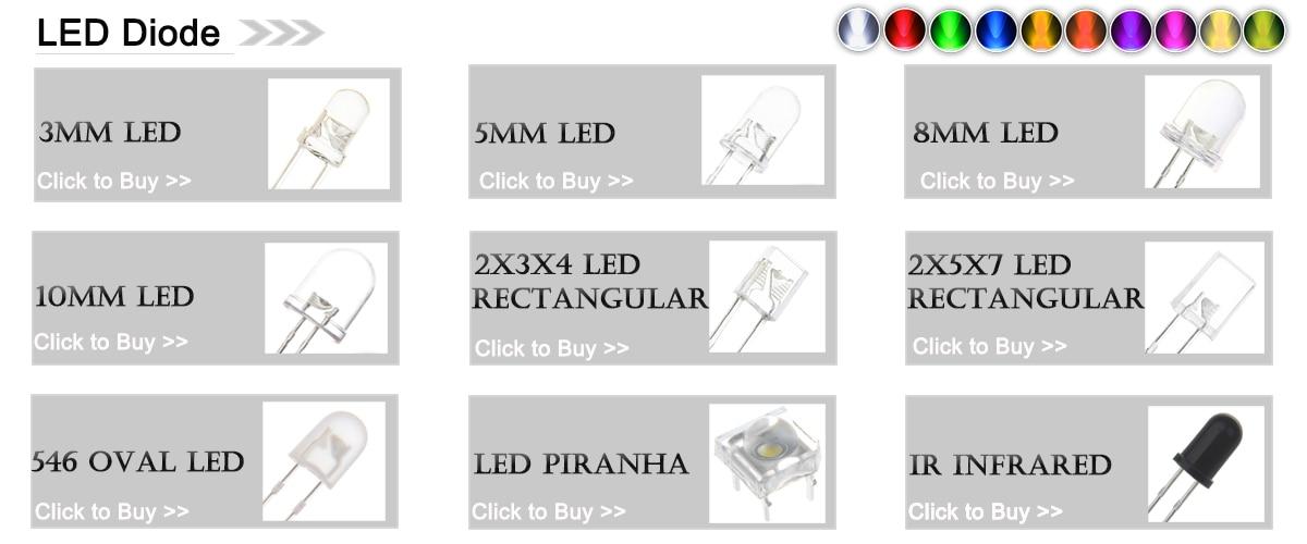 ULTRALUMINOSO 10mm LED VERDE confezione da 3