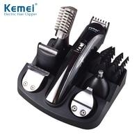 KM 600 Kemei 6 In 1 Hair Trimmer Titanium Hair Clipper Electric Shaver Beard Trimmer Men
