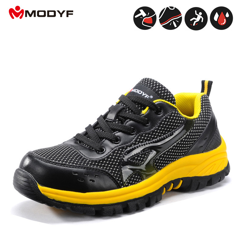 yellow Cap Lumière Respirant Chaussures Acier Black Travail Modfy Hommes Sécurité En Protection White Et Blue Printemps De Indestructible Déodorant And Nwnm80vO