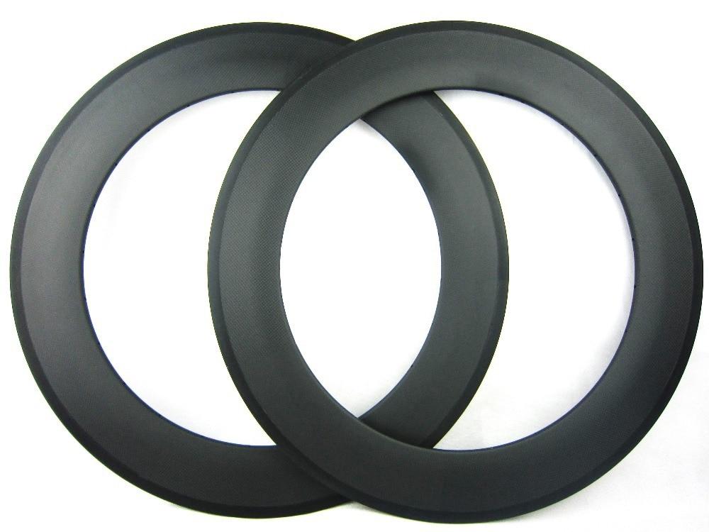 free shipping 88mm clincher carbon tubeless bicycle rim 700C 23mm width U shape