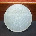 Natural Branco Jade riqueza sorte pingente de jade Esculpido amuleto chinês sem contratempos propício