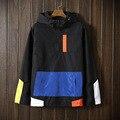 Новая Тенденция Весна Осень мужские Пуловеры Лоскутное пальто куртки для мужчин jaqueta Ветровка мужской моды туризм куртки Ветрозащитный