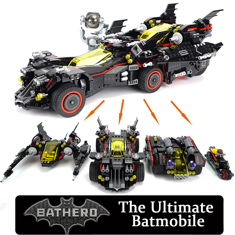 Marvel DC Super Heroes Batman Movie Building Blocks Ultimate Batmobile Brick Toy Compatible Legoland 70917 7132