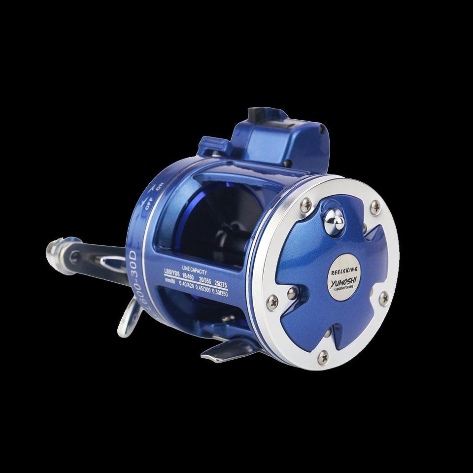 Рыболовная катушка высокого качества для рыбалки с счетчиком 12BB высокопрочный корпус литой барабан колеса baitcasting катушки Pesca