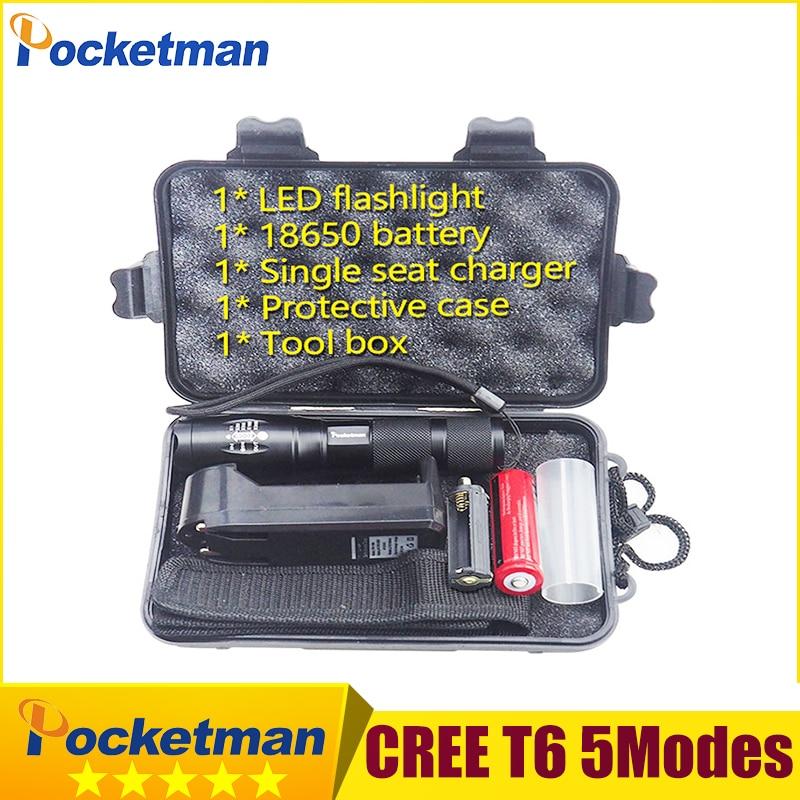 LED flashlight Tactical Flashlight 5000 Lumens XM-L2 Zoomable 5 Modes aluminum Lanterna LED Torch Flashlights For Camping beko wkb 41001