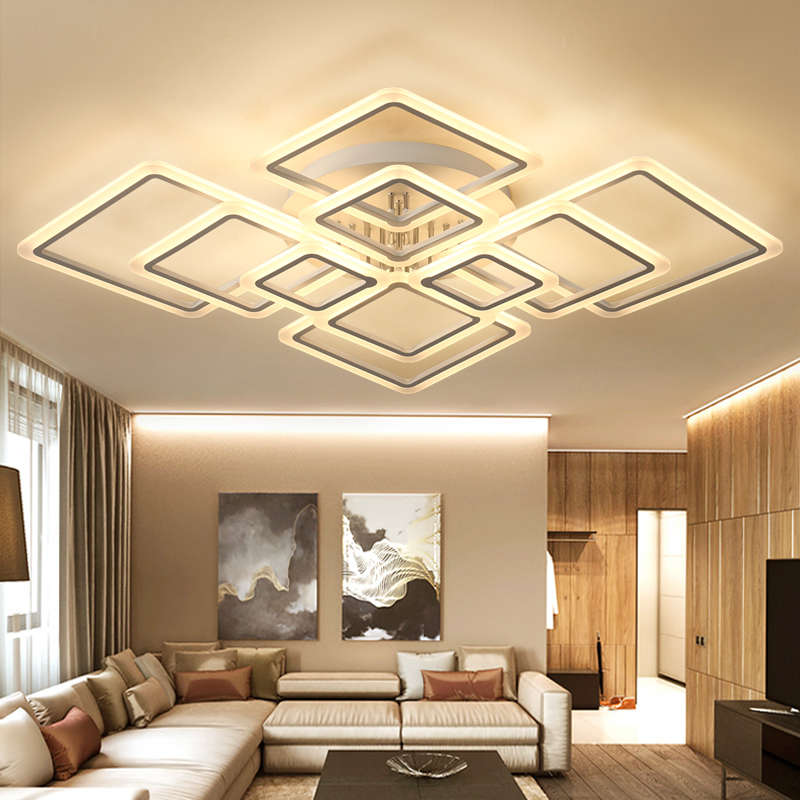 Buy new designs square ring chandelier for Woonkamer lamp modern