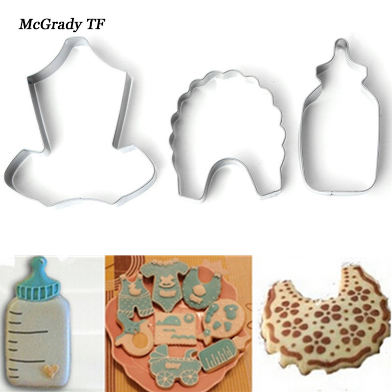 Stainless Steel BIY Baby Cap Feeder Scarf Shape Biscuit Cookie Mold Baby Feeding Bottle Clothing Kitchen Baking Mould Cake Mould