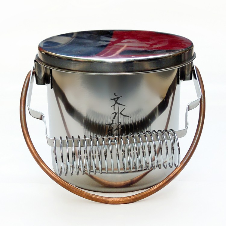Stainless Steel Brush Washer With Handle Large Capacity Wash Pen Barrel Bucket With Filter Screen Convinent Artist Painting Tool