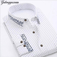 Men S Shirt Brand Dress 2017 Autumn Winter Long Sleeve Fashion Printed Casual Shirts Social