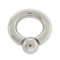ball ring. 8.0mm x 19mm surgical steel body jewelry screw in ball ring ball ring