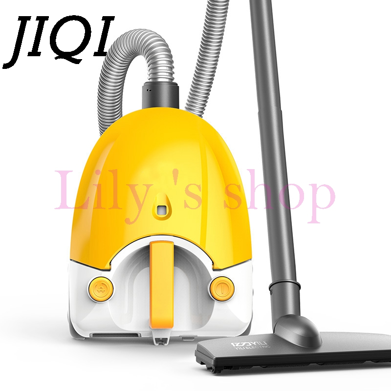 JIQI Vacuum Cleaner handheld electric suction machine Rod drag sweeper household powerful carpet Aspirator dust Collector EU US powerful vacuum suction hooks white