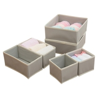 6pcs Household Non woven Storage Container Underwear Bra Socks Drawer Clothing Storage Boxes