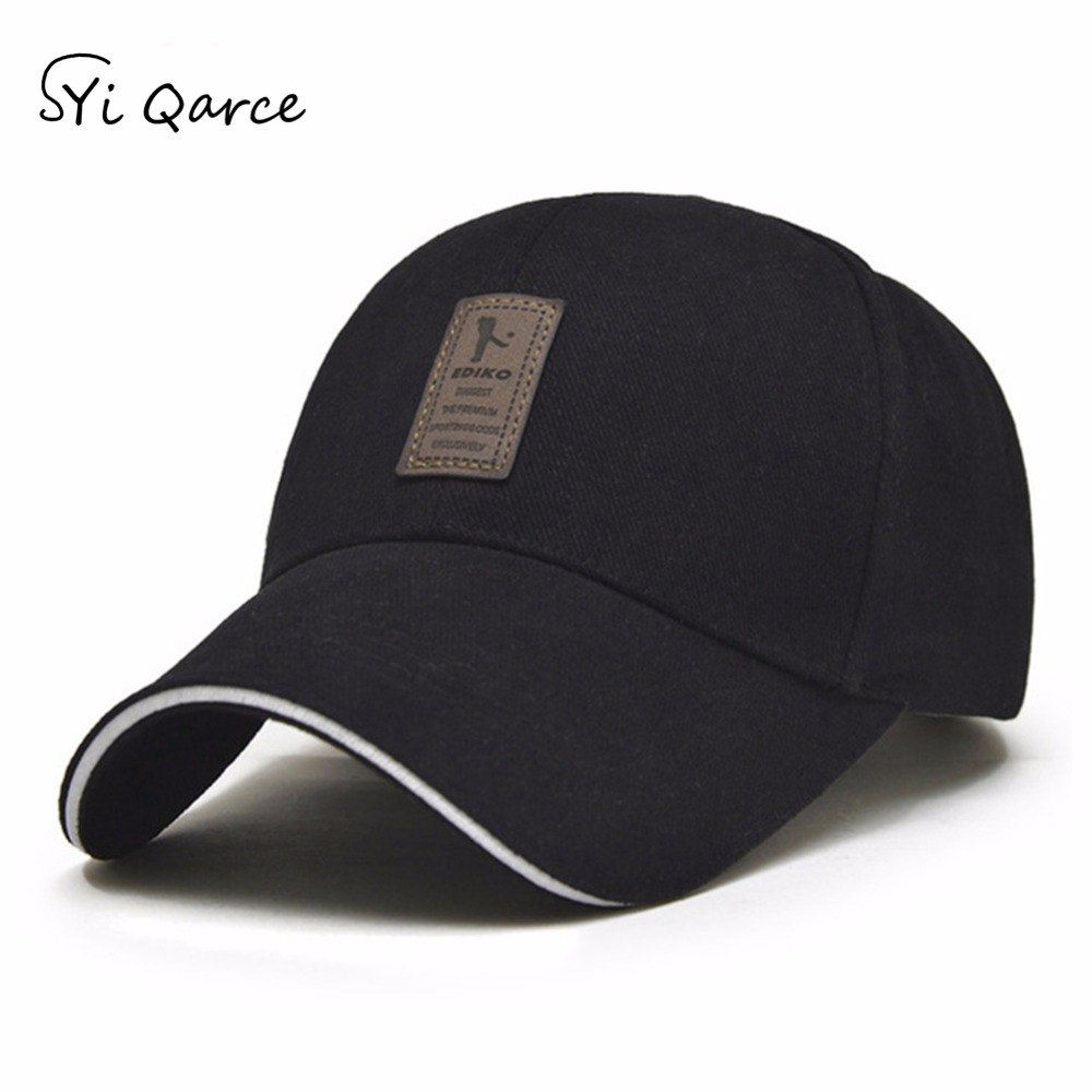 SYi Qarce Spring Summer Men's   Baseball     Cap   Adjustable Cotton   Baseball     Cap   Fashion Boy Hat Outdoor Leisure Sun Snapback Hat