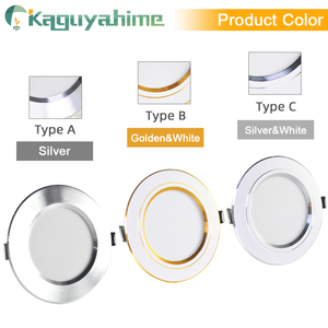 Image 2 - Kaguyahime LED Downlight 220V 240V LED Tavan Lambası 18W 15W 12W 9W 5W 3W Altın/Gümüş/Beyaz Yuvarlak Gömme Işık LED Spot