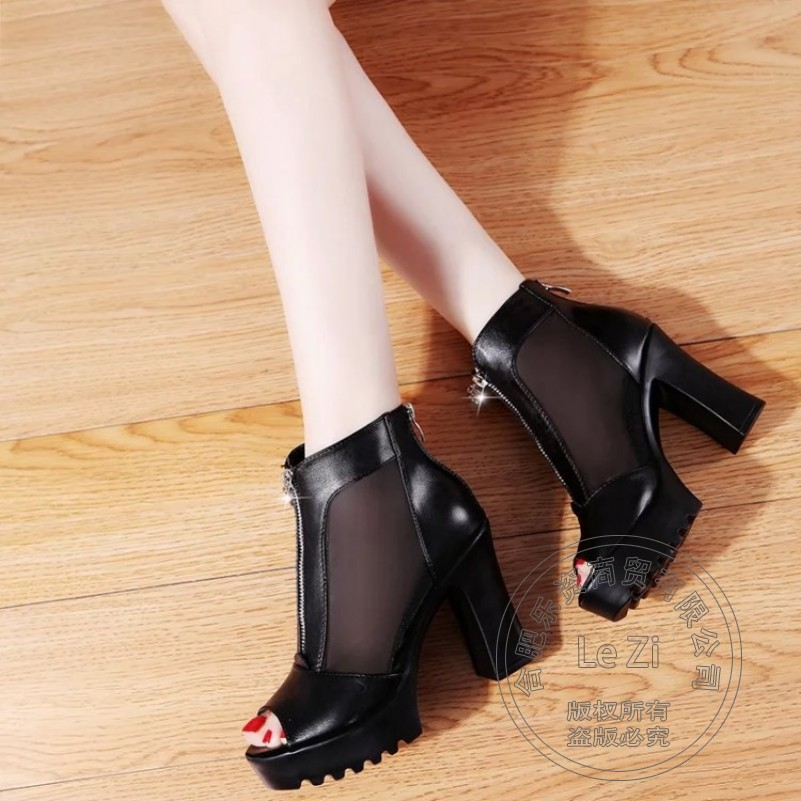 Pu Shoes Cheap Soft Leather font b Women b font Pumps Buckle Thick Soled Zip Leisure