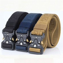 Military Equipment Army Belt Men Combat Tactical Designer Belts For Jeans Pants Solid Casual Nylon Strap Canvas Waist Belt(China)