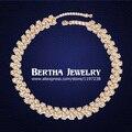 Clássico Gargantilha colar com Swarovski Elements ouro cheias cadeia Gargantilha Collares Mujer Bijoux mulheres