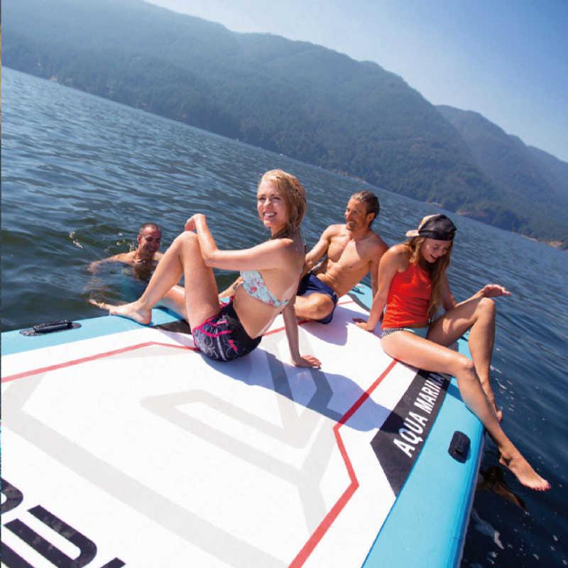 AQUA MARINA MEGA SUP Sörf Tahtası Kürek Kurulu Çok Katmanlı Stand Up Paddleboard Bodyboard Yüzgeçleri Ile AYAKTA SÖRF tahtası 550*152*20cm