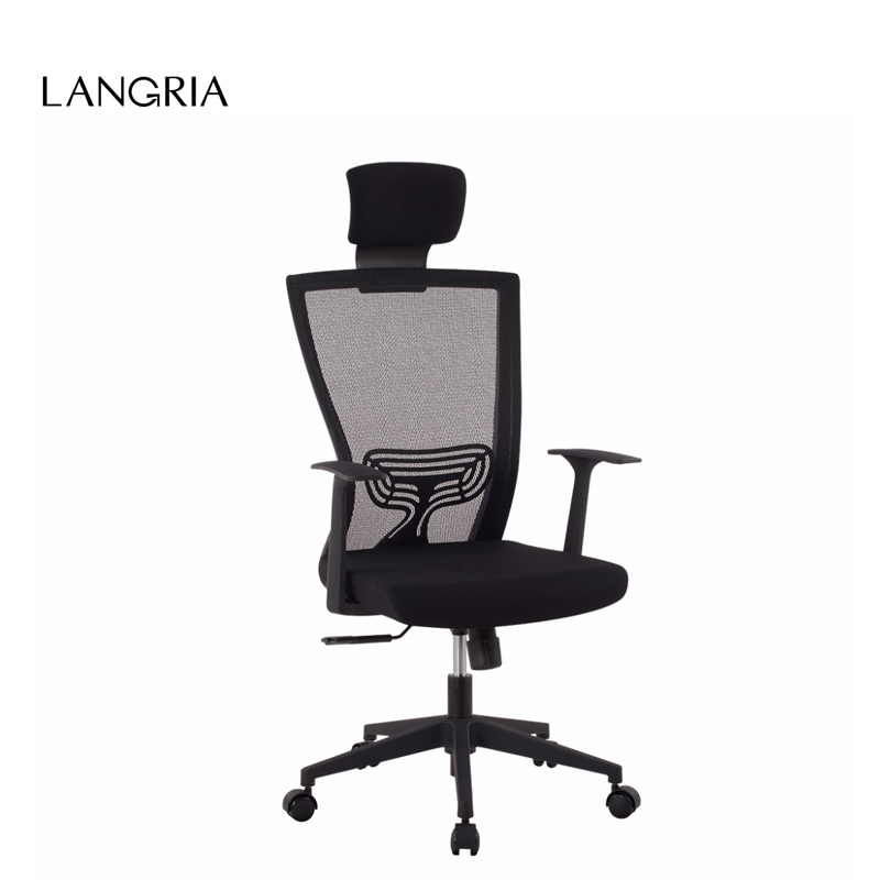 langria de style modern ergonomic high back mesh executive computer office chair with headrest. Black Bedroom Furniture Sets. Home Design Ideas