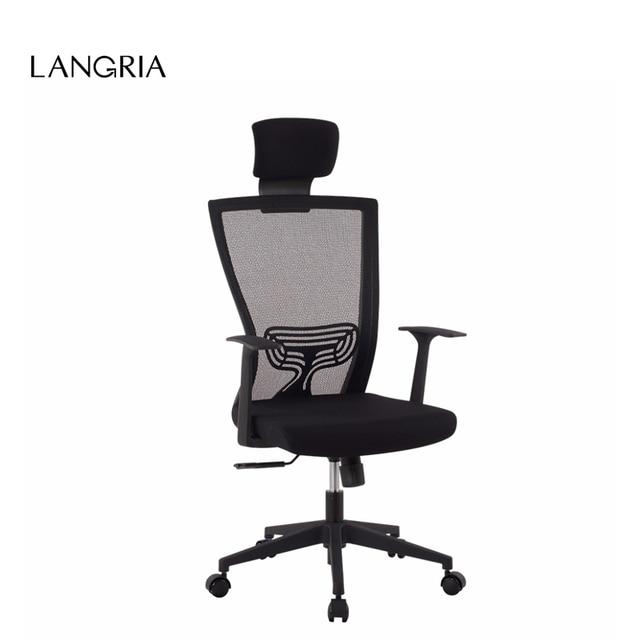 Langria De Style Modern Ergonomic High Back Mesh Executive Computer Office Chair With Headrest Lumbar