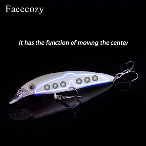 Image 4 - Facecozy 1Pc Luminous Bionic Bait Fishing Lures with Two Eagle Claw Hooks Artificial Bait 8 11CM CrankBait  High Rate Minnow